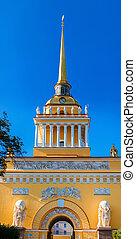 The Admiralty building in Saint-Petersburg