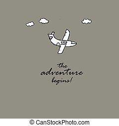 the adventure begins idea