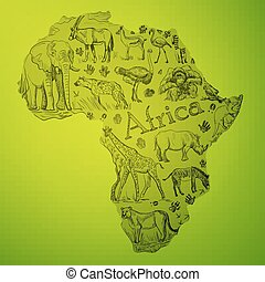 The African continent is filled with doodle animals