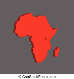 The African continent. Vector illustration
