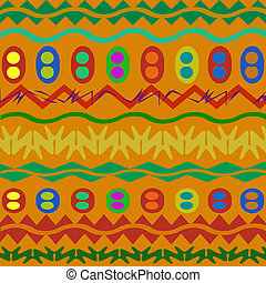 The African ornament, the sample with geometrical figures
