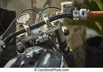The aging of the bike under the weather