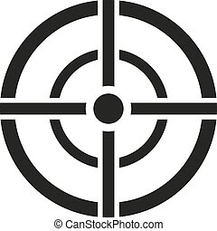 The aim bag icon. Crosshair and target, sight, sniper symbol...