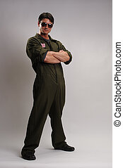 the air force pilot - the hot guy is wearing air force gear