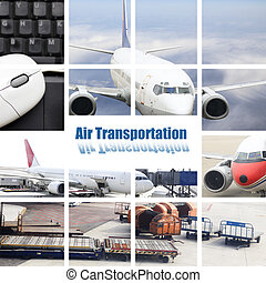 air transport - the air transportconcept with the scene at ...