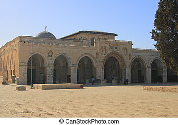 The al-Aqsa Mosque is a mosque on the Temple Mount in Jerusalem's Old City