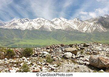 The Ala Archa National Park of Bishkek Kyrgyzstan