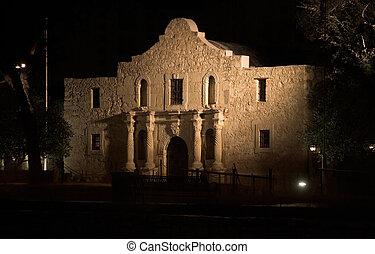 The Alamo mission in San Antonio, Texas, historic landmark of the Texas Revolution