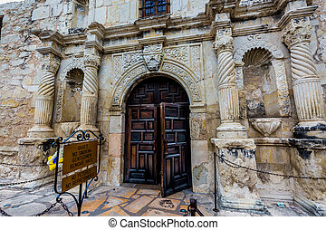 The Alamo in San Antonio, Texas.