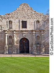 The Alamo mission in San Antonio, Texas