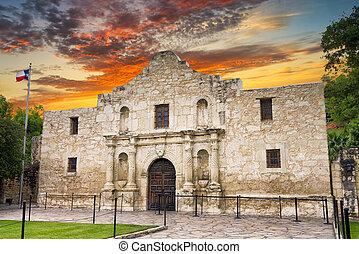 The Alamo, San Antonio, TX - Exterior view of the historic...