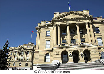 The Alberta Legislature Building.