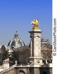 Alexander III Bridge across Seine r