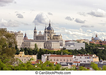 Almudena Cathedral - The Almudena Cathedral in Madrid, Spain...