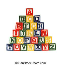 The Alphabet in Blocks