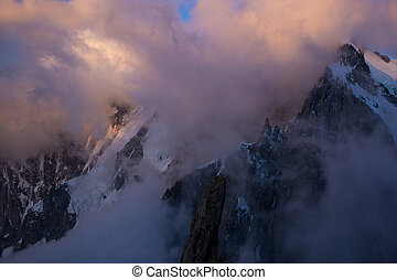 The alps in early morning light