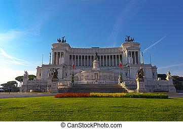 The Altare della Patria (Altar of the Fatherland), also know as Vittoriano in Rome, Italy