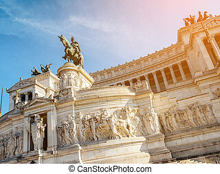 The Altare della Patria in Rome , Italy