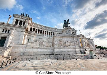 The Altare della Patria monument in Rome, Italy. - The ...
