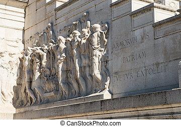 The Altare della Patria building in Rome, Italy