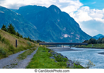 The Alte Rheinbr?cke across the river Rhine between ...