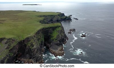The amazing coast of Glencolumbkille Donegal Ireland.