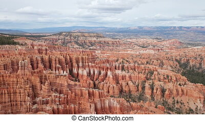 the amazing rock structures at bryce canyon, utah, usa,...