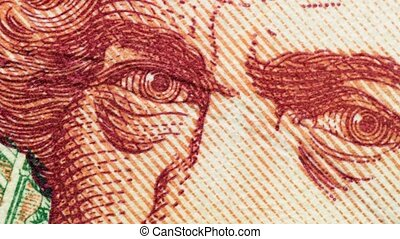 The American banknote closeup