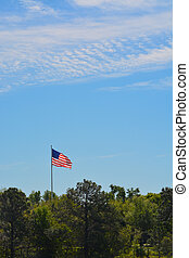 The American Flag, Stars and Stripes, Red, White and Blue.