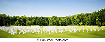 The American WW2 cemetery at Ardennes