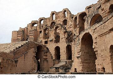 The amphitheater in El-Jem, Tunisia