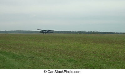 The AN-2 aircraft on the airfield