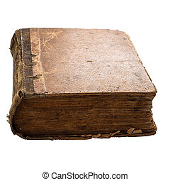 The ancient book on a white background