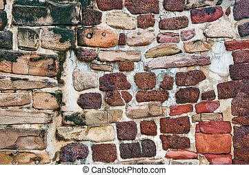 The Ancient brick wall