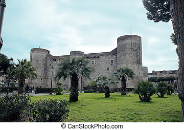 Castello Ursino - the ancient Castello Ursino in Catania,...