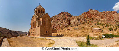 The ancient Christian temple complex Noravank in the mountains of Armenia