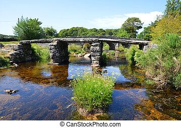 The ancient clapper bridge