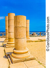 The ancient columns period on Mediterranean coast