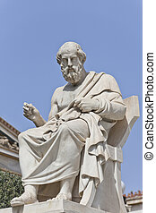 The ancient Greek philosopher Platon - Platon in front of...
