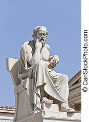 The ancient Greek philosopher Socrates - Socrates in front...