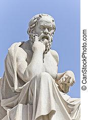 The ancient Greek philosopher Socrates - Socrates in front...