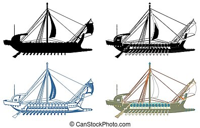 The Ancient Greek Ship Vector... - The Ancient Greek Ship...
