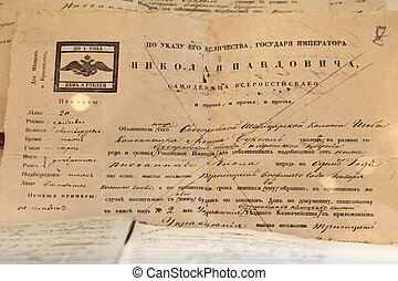 The ancient king of the document the Russian Empire