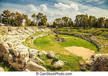 ancient Roman amphitheatre of Syracuse