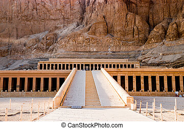 The ancient temple of Hatshepsut in Luxor, Egypt - Panorama...