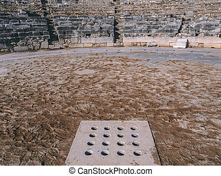 The ancient theater in Philippi, Greece - the stage