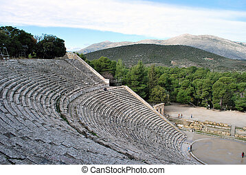 The ancient theatre of Epidaurus in Greece
