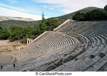 The ancient theatre of Epidaurus in Greece