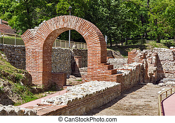 The ancient Thermal Baths of Diocletianopolis, town of Hisarya, Plovdiv Region,