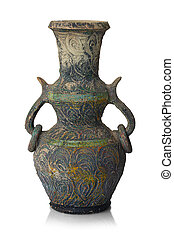 ancient vase isolated on a white background